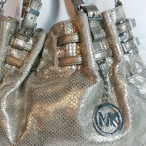 Michael Michael Kors Metallic Gold Crossbody/Satch